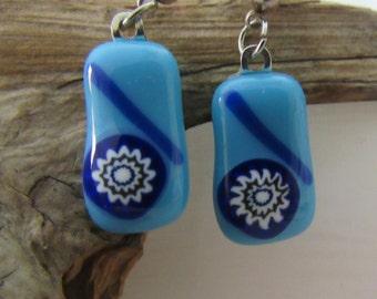 SALE; Fused Glass Jewelry; Fused Glass Earrings, Earrings, Fused Glass Stud Earrings EDB-62