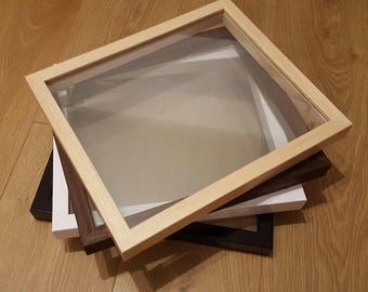 Floating Frame Only - Glass to Glass Frames - Papercut Paper Cut Frames, Vinyl Shadow Frames, Glass picture frames