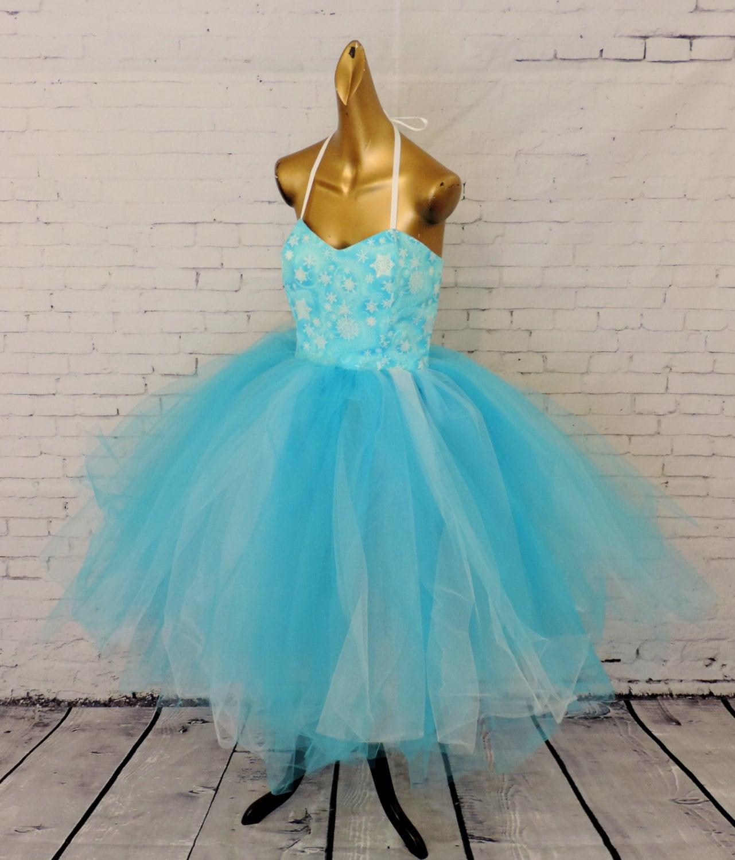 Sale Item Adult frozen tutu dress costume blue tutu ice