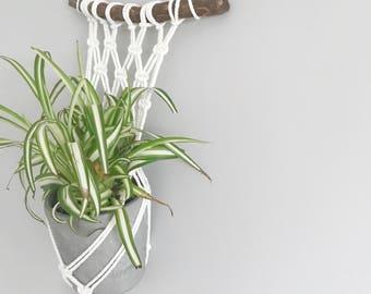 Macramé Plant Hanger, Natural, Knotted, Wooden, Terracotta planter, Indoor Plant, Handmade