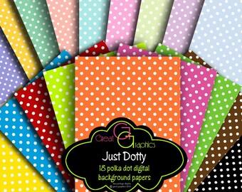 Polka Dot Paper Digital Polka Dot Paper Printable Polka Dots Polka Dot Party Paper Digital Paper - Instant Download