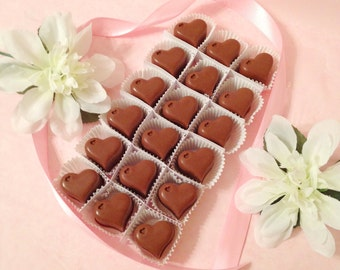 Heart Shaped Chocolates - I Love You Chocolates - Milk, Dark or White Chocolate Hearts