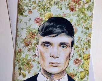Peaky Blinders A5 Vintage Illustrative card - Tommy Shelby / Cillian Murphy