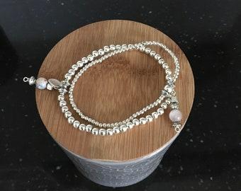 Boho silver Bracelet (set)