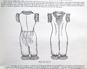 Antique Needlework Book Cutting Out for Student Teachers 1904 edn Amy K. Smith Victorian sewing book womens garments underwear baby clothes