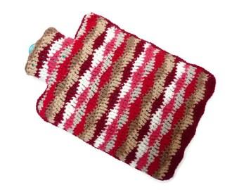 Crochet hot water bottle cosy crochet hottie gift for a friend hot water bottle cover bed warmer