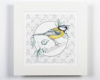 Great Tit, Giclee Print