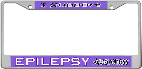 Epilepsy Awareness License Plate Frame