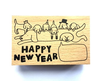New Year Rubber Stamp -   Dog  Stamp-  Traditional Japanese Rubber Stamp - Year of the Dog