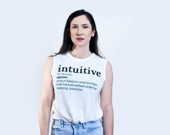Intuitive Perceiving Graphic Tee | Women's Tank Top | Jung Myers-Briggs MBTI Personality | Sleeveless Cotton Top | Graphic Tshirts | L415&Co
