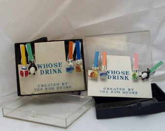 vintage drink/ glass clips
