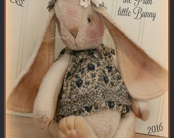 Primitive Bunny Pattern Clara Belle the Prim little Bunny Primitive Pattern