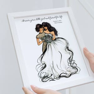 Mother of the Bride gift from Daughter - Mother of the bride gift from bride - Personalized Gift for mother of bride - Gift for mom wedding
