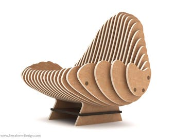 The Terraform Chair - CNC Cut Parametric Chair