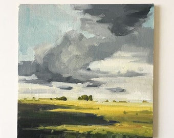 "Afternoon Shadows  • original 6x6"" oil painting"
