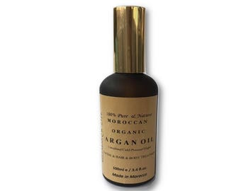 Argan Oil  Organic, Virgin, Cold Pressed, Unrefined 100 ml