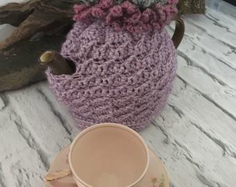 Flower tea cozy - flower tea cosy - teapot cozy cosy - crochet teapot cover - crochet teacozy - flower crochet