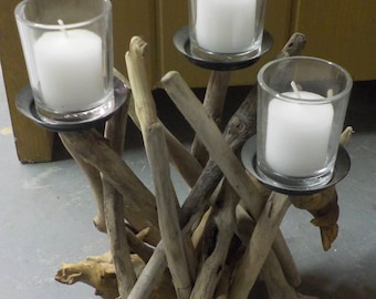 Wood Stick Candle Holder