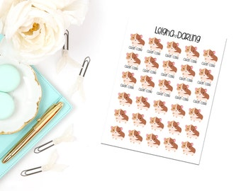 Guinea Pig Care/Pet Care Planner Stickers