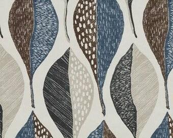 SALE Designer Pillow Cover - Lumbar, 16 x 16, 18 x 18, 20 x 20, 22 x 22, 24 x 24, 26 x 26 - Woodblock Leaf Deep Twilight