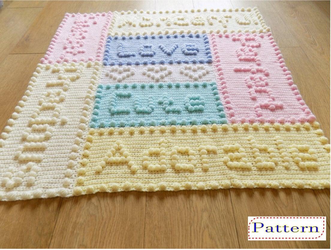 Precious Baby Blanket Crochet Pattern By Peach Unicorn