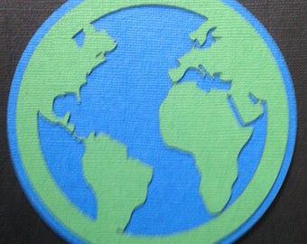World Globe Scrapbooking Embelishment