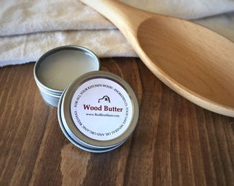Wood Butter, Wood Conditioner, Cutting Board Conditioner, Wood Spoon Conditioner, Cutting Board Rub, Butcher Block Conditioner Rub
