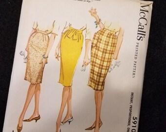 McCalls/5910/Pattern/Skirt/Misses