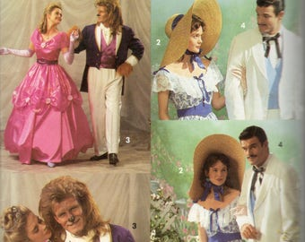 Simplicity 7971 0642 Mens Misses COSTUME PATTERN Gone with the Wind Beauty Beast Adult Vintage Sewing Pattern
