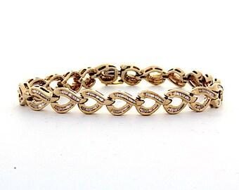Diamond Bracelet, 3.33ct, 14K Gold (14B455)