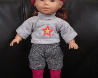 clothing doll 36 cm Ma Corolla shorts hat, t-shirt and tights
