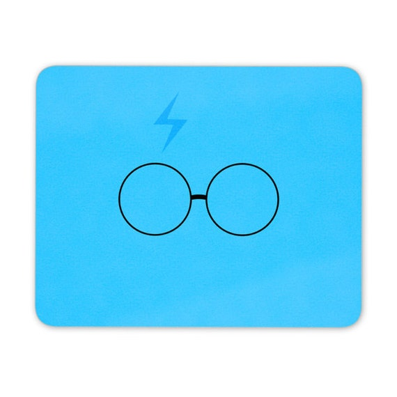 Harry P inspired mouse pad blue - mouse mat - desktop mouse mat - funny mouse mat - computer pad 3P001