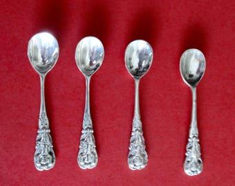 Antique Set of Four Sterling Silver Salt Spoons