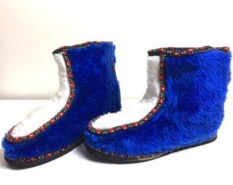 Folk Slipper Boots