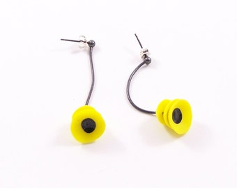 Lotus Earrings yellow