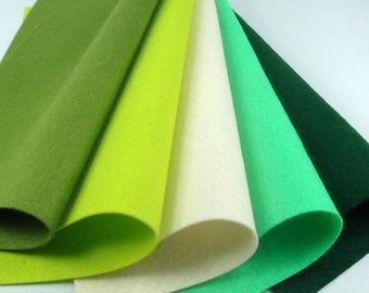 5 Colors Felt Set - Mountain - 20cm x 20cm per sheet
