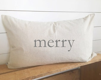 Merry Kidney Pillow  Christmas Cover 16 x 26 // Christmas / Christmas Pillow / Accent Pillow / Throw pillow / gift / holiday / holiday decor