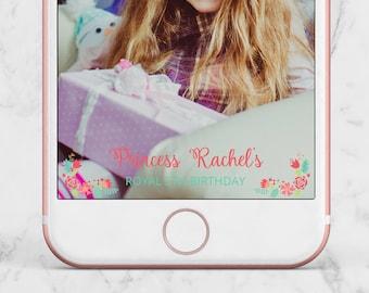Princess Birthday Snapchat Geofilter, Princess Birthday Filter, Princess Birthday Geofilter, Princess Geofilter, Princess Snapchat Filter,