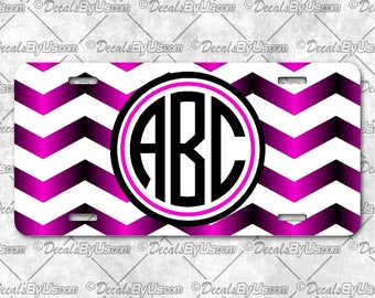 License Plates - Printed - Chevron Gradient Print -Personalized