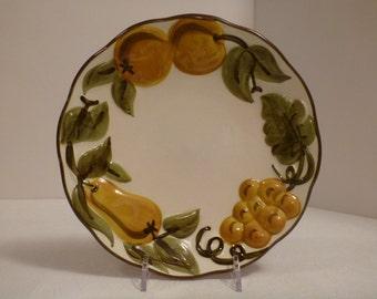 Stangl Sculptured Fruit 8'' Plate #5179