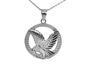 925 Sterling Silver Eagle Pendant