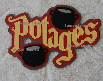 Universal Studios - Harry Potter - Potages Die Cut Title for Scrapbook Pages - SSFF