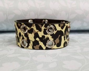 Jkleathers Vegan faux leather hand stamped optional wear your story bracelet custom personalized