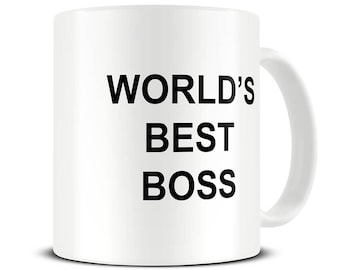 Worlds Best Boss Mug - Boss Coffee Mug - Funny Gift for Boss - Office Mug - Gift for Manager - Gift for CEO - MG638