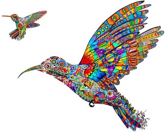 Hummingbird Art, Metatron's Cube, Bohemian, Boho, Bird Art, Spirit Animal Art, Spiritual Art, Hippy Art, Reclaimed Wood Frame, Canvas Prints