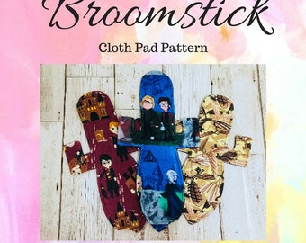 Broomstick Cloth Pad Pattern, Cloth Pad Pattern, Sewing Pattern