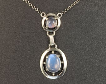 Vintage! Sterling Silver and Moonstone Necklace