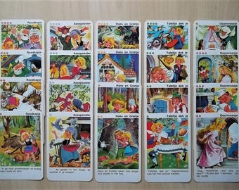 vintage children's quartet, vintage game, Dutch quartet, vintage toys, fairytale quartet, Piatnik quartet, vintage children's card game