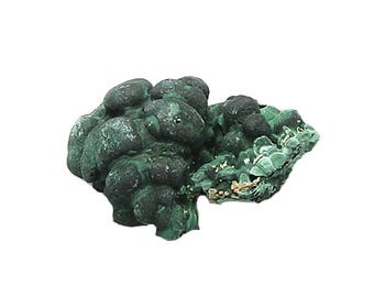Malachite Botryoidal Green Crystalline mineral specimen Rum Jungle Australia from an estate collection housed in a museum display box