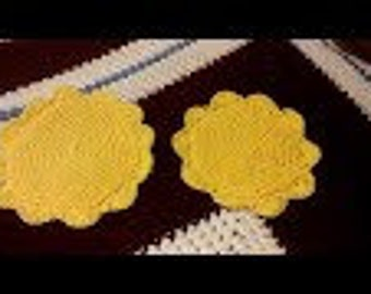 Double Thick crocheted Potholders